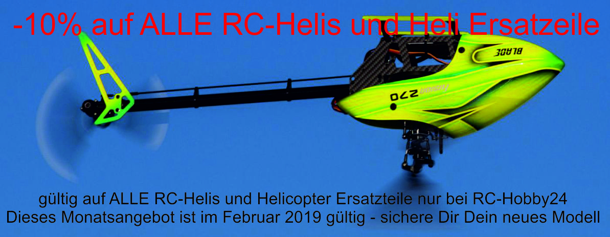 10 % Rabatt auf ALLE RC-Helis im Februar